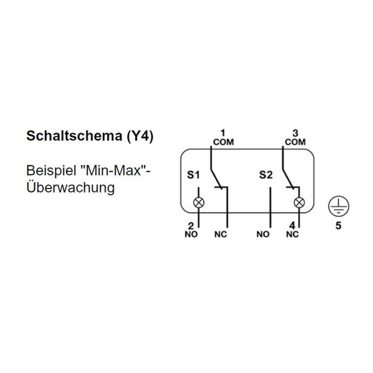 Delta 2XM Analoges Manometer mit Anzeige und zwei Schaltkontakten-217