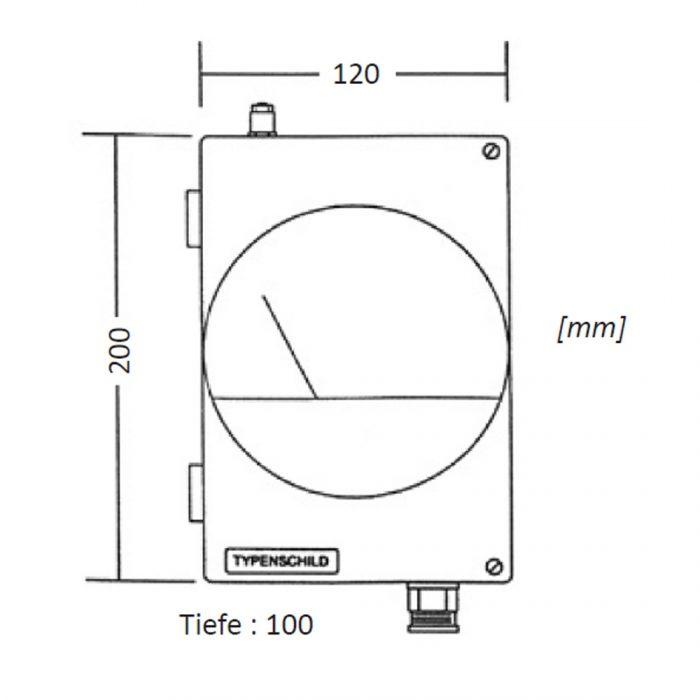 DELTA CP Messumformer mit Analoganzeige für Differenzdruck-165