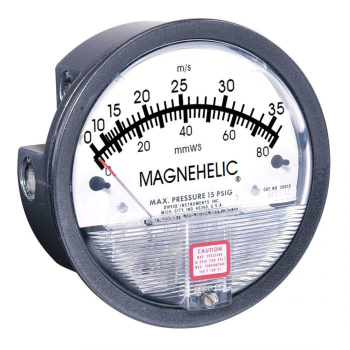 DWYER Magnehelic Serie 2500 Doppelskala Druck und Geschwindigkeit-0