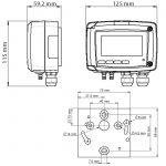 KIMO CP210-R Messumformer für Differenzdruck, optional mit Strömungsfunktion-1151