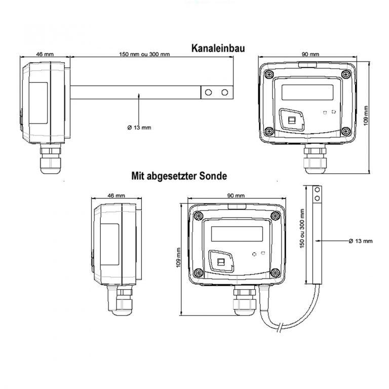 KIMO CTV110 – Messumformer für Luftgeschwindigkeit und Temperatur-1156