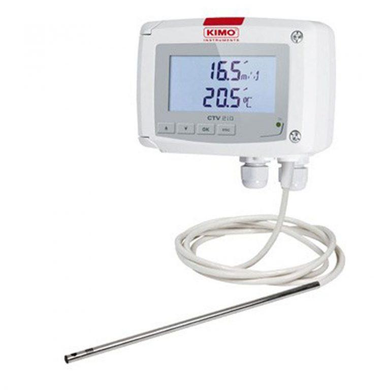 KIMO CTV210-R – Messumformer für Luftgeschwindigkeit, Volumenstrom und Temperatur-0