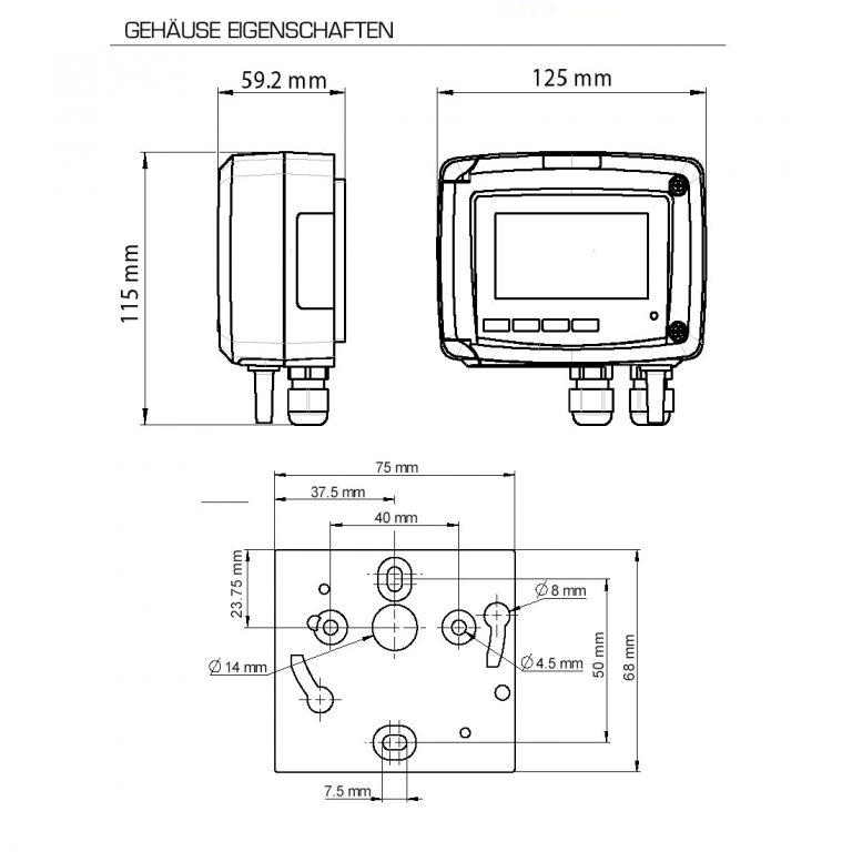 KIMO CTV210-R – Messumformer für Luftgeschwindigkeit, Volumenstrom und Temperatur-1164