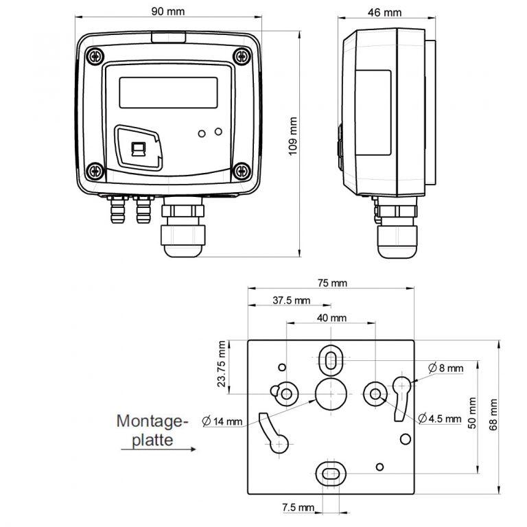 KIMO PST Digitales Manometer mit Anzeige und einem Schaltkontakt-1142
