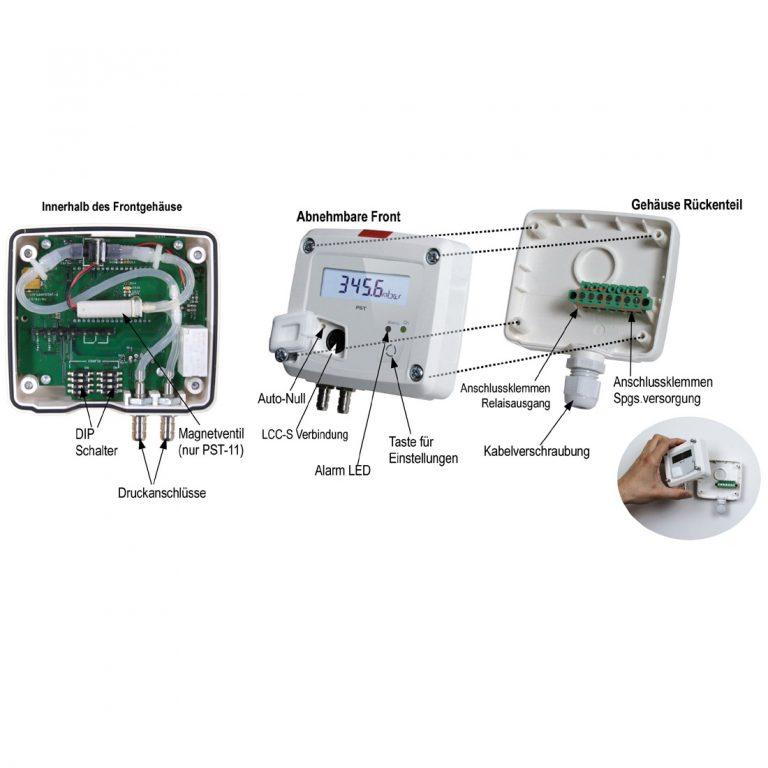 KIMO PST Digitales Manometer mit Anzeige und einem Schaltkontakt-1143