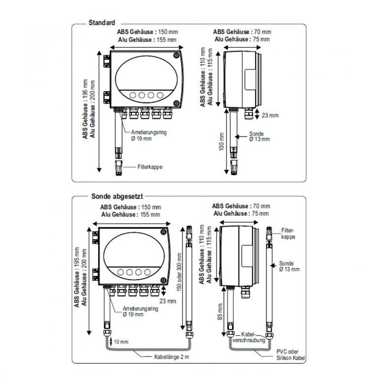 KIMO TH300 Temperatur- und Feuchtetransmitter ohne Sonde-265