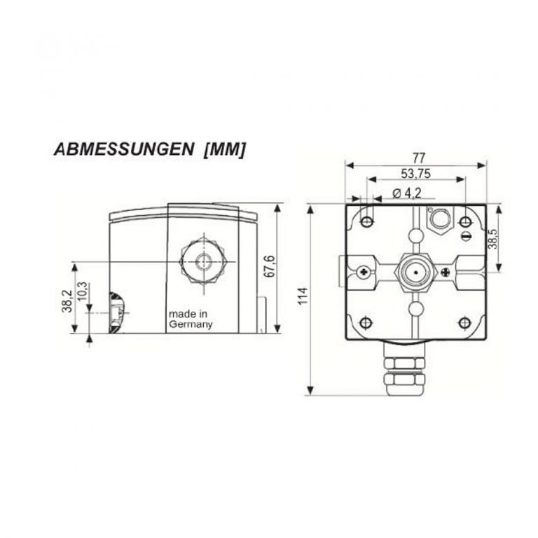 Serie EM/GGW Differenzdruck-Schalter für Ex-Zonen ohne Anzeige-232