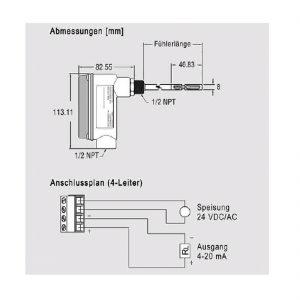 Serie EM-641 - Messumformer für Luftgeschwindigkeit temperaturkompensiert von -40 bis +100°C-182