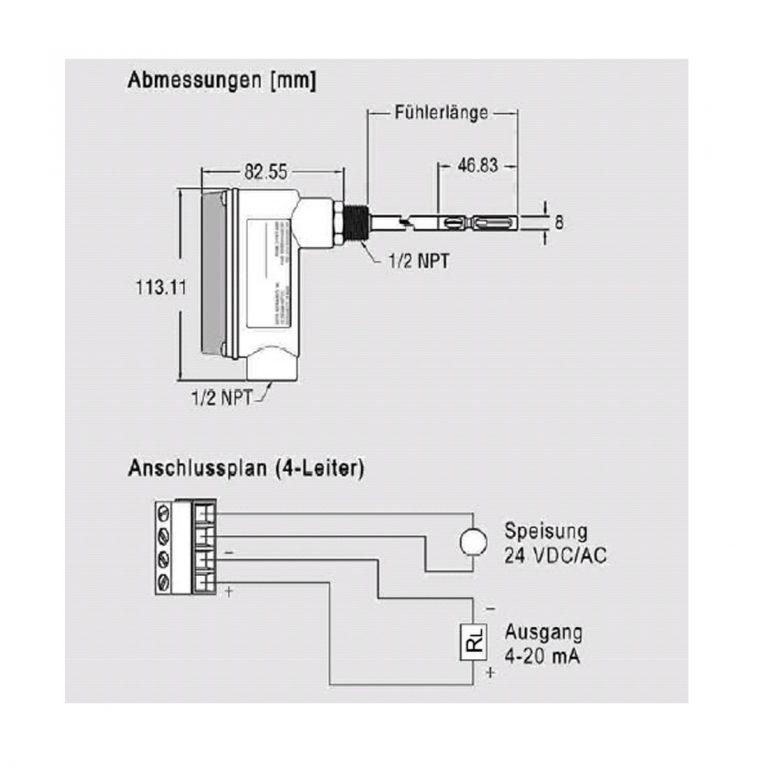 Serie EM-641 – Messumformer für Luftgeschwindigkeit temperaturkompensiert von -40 bis +100°C-182