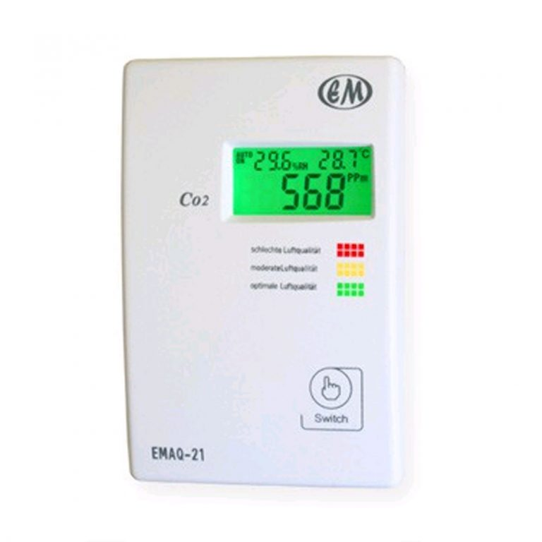 EMAQ-21 Multiparameter-Luftgüteampel CO2, Temperatur, Feuchte mit einem einstellbarem Schaltkontakt-0