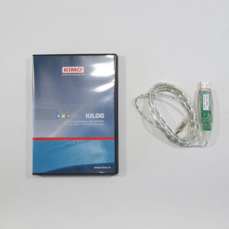 KIC2-N Set KILOG-N Software mit I-KIC2 USB-Kabel für KIMO Datenlogger Serie 100, 200, 300-1015