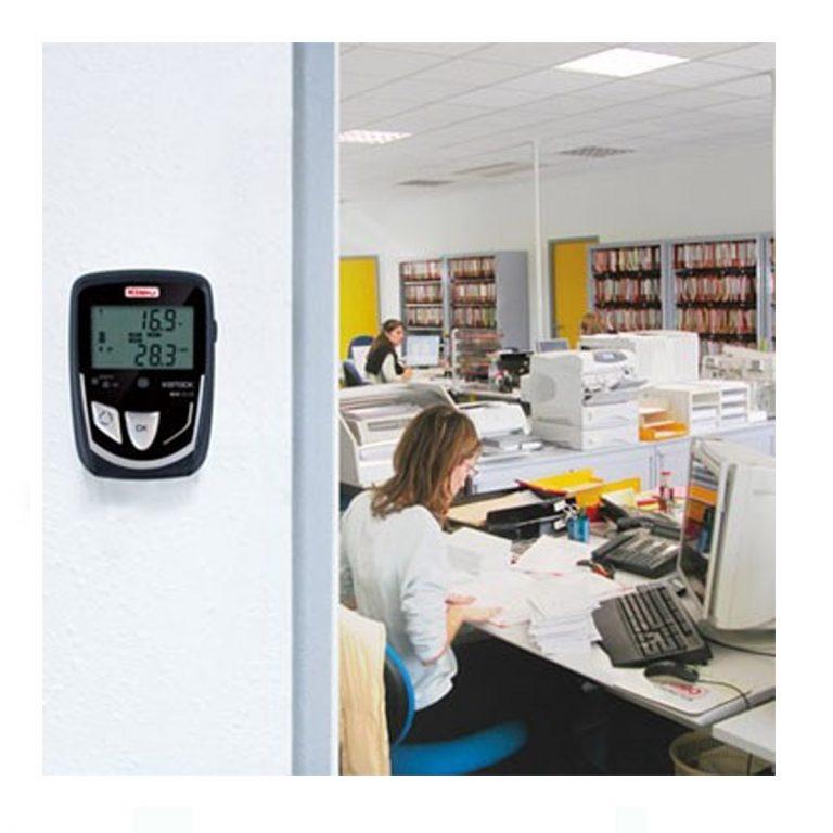 KIMO KH-210-A Datenlogger Temperatur, Feuchte, Licht (interner Sensor), Temperatur, Strom, Spannung (optional über 2x Klinke 2,5 stereo)-383