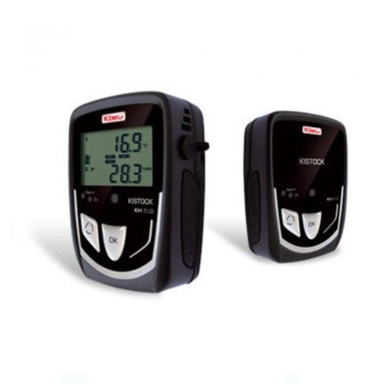 KIMO KH-210-A Datenlogger Temperatur, Feuchte, Licht (interner Sensor), Temperatur, Strom, Spannung (optional über 2x Klinke 2,5 stereo)-0