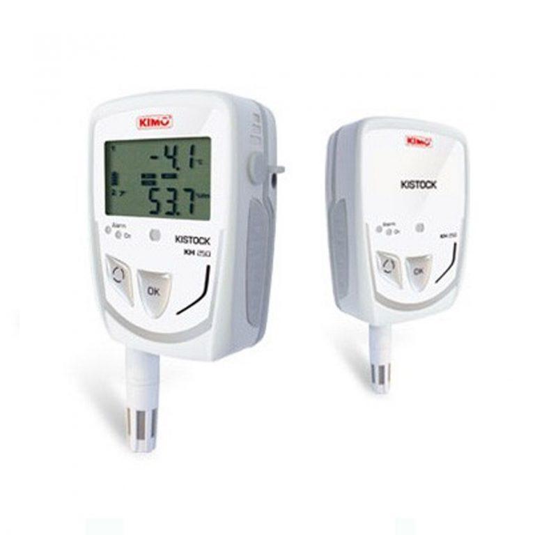 KIMO KH-250-A IP65 Datenlogger Temperatur, Feuchte, Licht (interner Sensor), Temperatur, Strom, Spannung (optional über 2x Klinke 2,5 stereo)-0