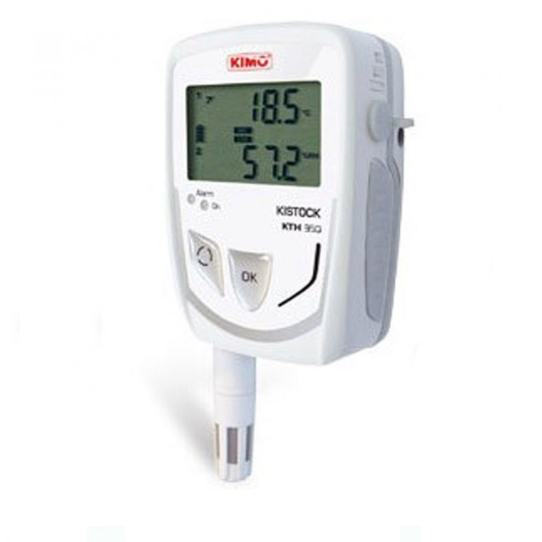 KIMO KTH-350-A IP65 Datenlogger Temperatur, Feuchte (abgesetzter Sensor), Temperatur, Feuchte, Strom, Spannung (optional über 1x 8-poliger Mini-DIN)-0