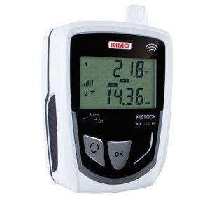 KIMO KT-110-RF IP 65 Funkdatenlogger Temperatur (interner Sensor), Temperatur NTC, Strom, Spannung, Puls (optional über 1x 8-poliger Mini-DIN)-0