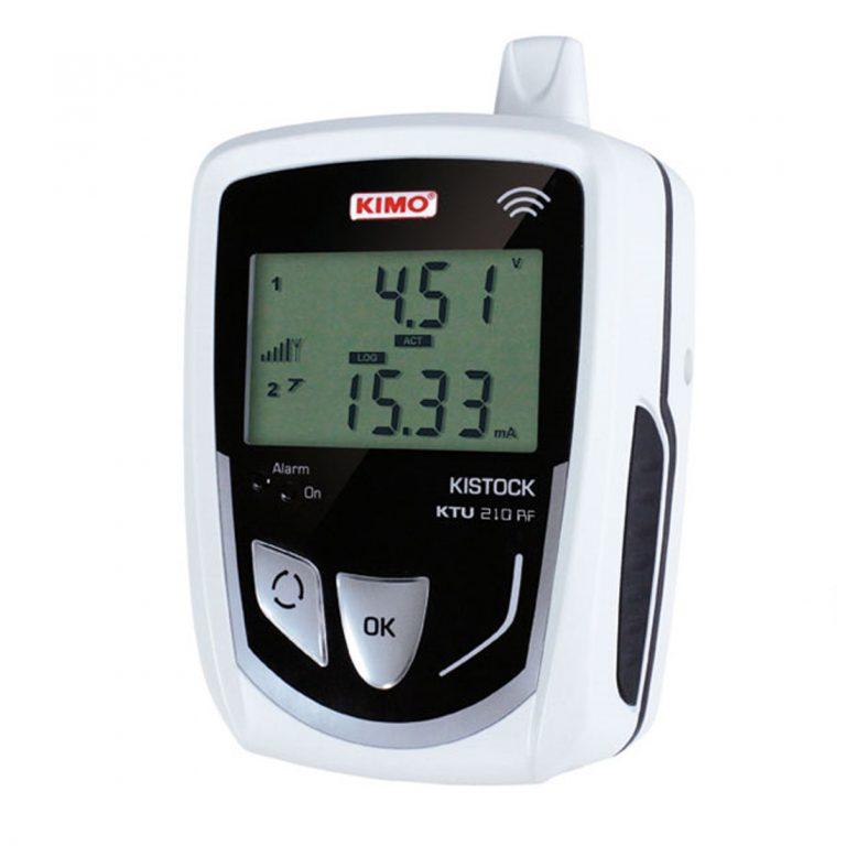KIMO KTU-210-RF IP 65 Funkdatenlogger Strom, Spannung, Puls (optional über 2x 8-poliger Mini-DIN)-0