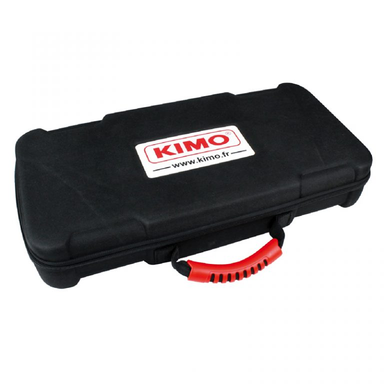 KIMO LV-130 Flügelrad-Anemometer für Temperatur, Luftgeschwindigkeit, Volumenstrom, mit 100 mm-Sonde fest am Gehäuse-1626