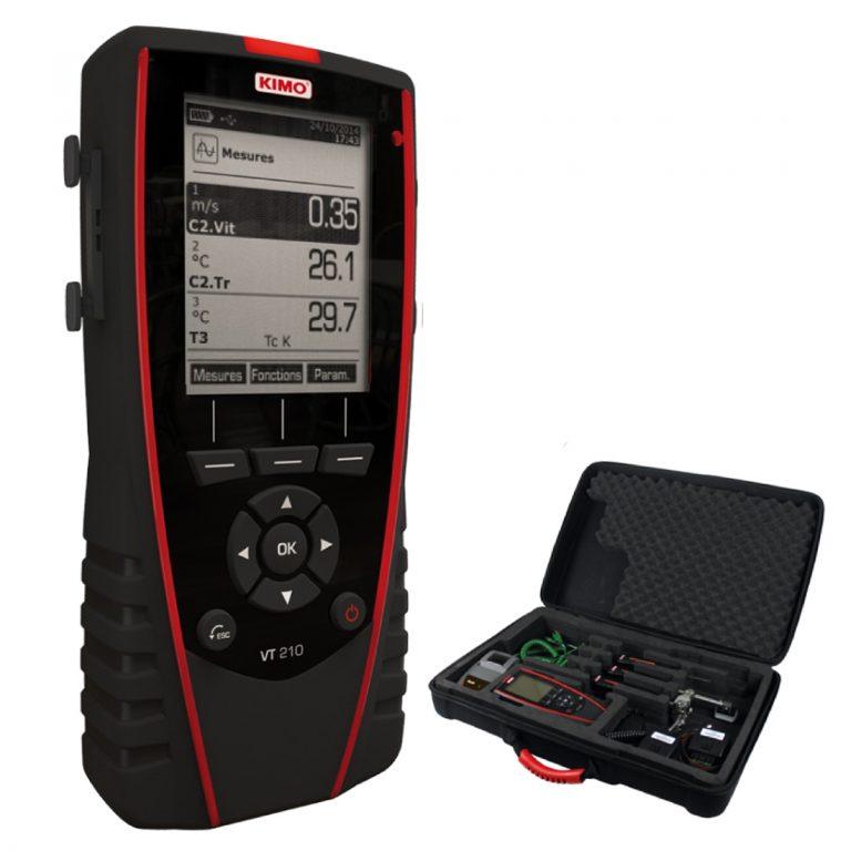 KIMO VT 210 Multifunktionsthermoanemometer, Hygrometer-0