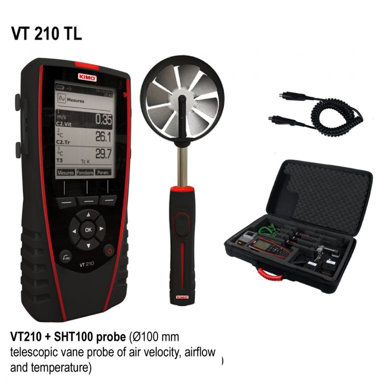 KIMO VT 210 Multifunktionsthermoanemometer, Hygrometer-1810