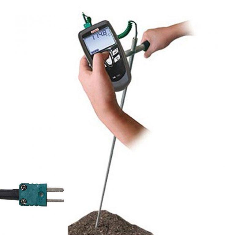 SKP Klasse 1 Thermoelement K Edelstahlsonde zum Einstechen in Erdreich, Kompost (-50°C bis +400°C) Längen 1000 mm bis 2000 mm-0