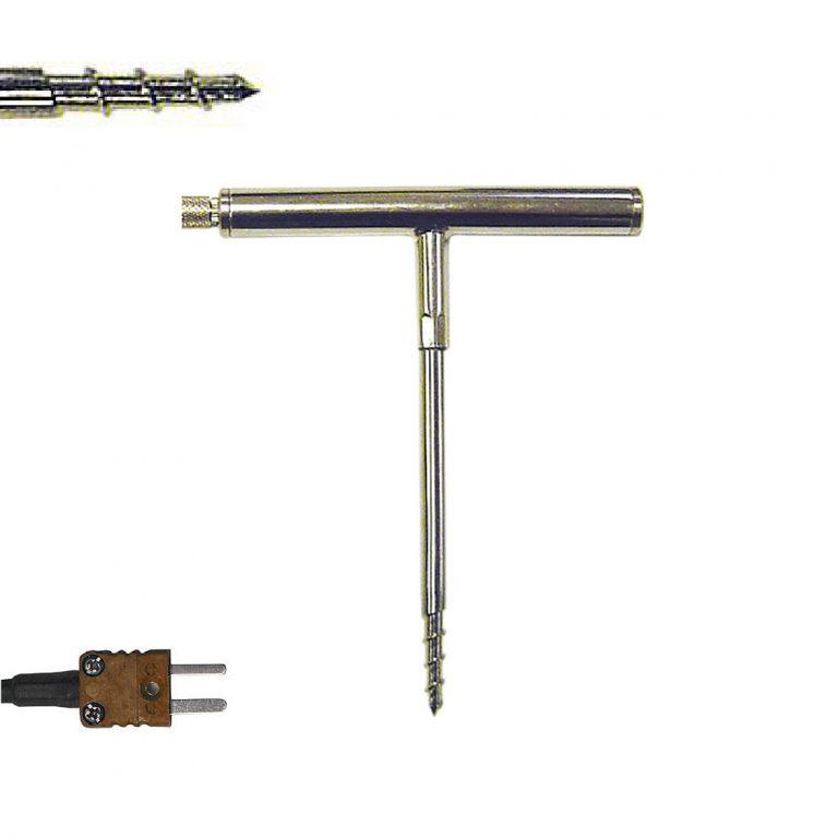 STT-125 Klasse 1 Thermoelement T Korkenzieher-Einstechmessfühler mit T-förmigem Griff (-50 bis +250°C)-0