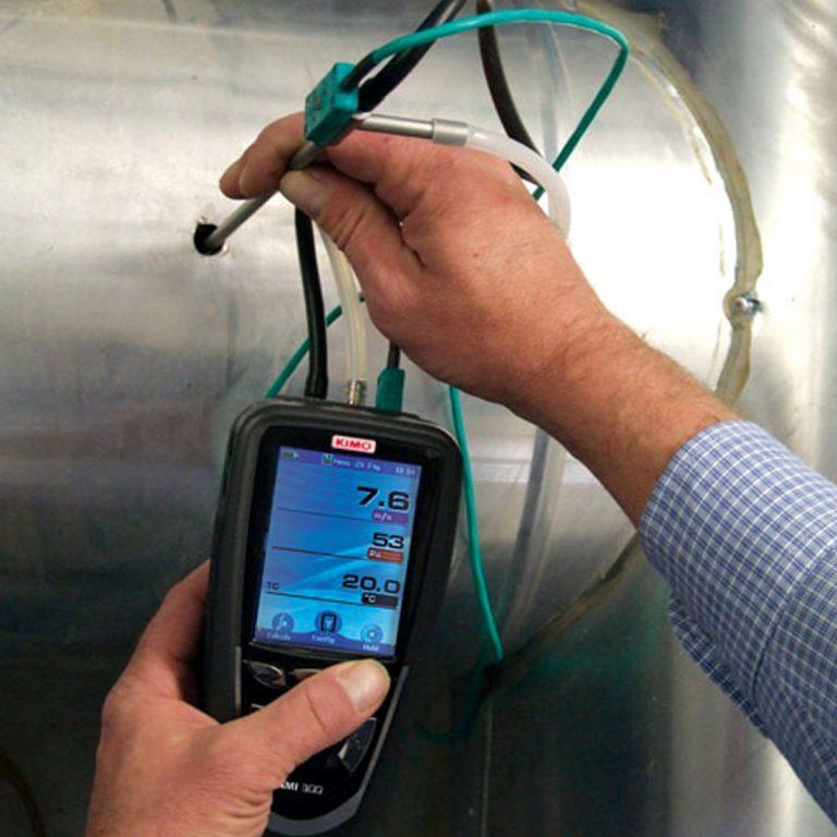 KIMO DBM-610 Volumenstrom-Messhaube für Differenzdruck, Temperatur, Luftgeschwindigkeit, Volumenstrom mit einer Messhaube-700