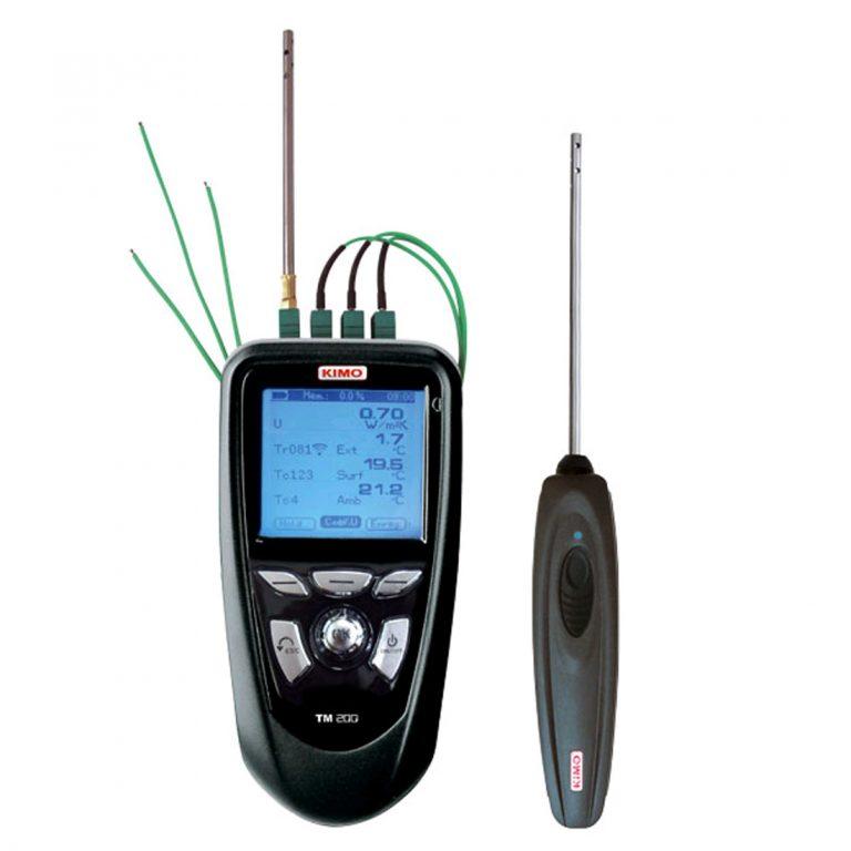 KIMO TM-200 U – Multifunktions-Thermometer-Komplettset zum Messen von U-Werten (Wärmedurchgangskoeeffizient)-0